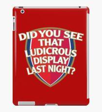 Did you see that Ludicrous display last night? iPad Case/Skin