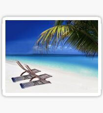 Relax at the Beach  Sticker