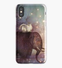 Riding through the night iPhone Case