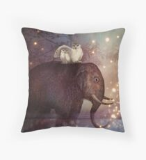 Riding through the Night Throw Pillow