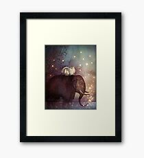 Riding through the night Framed Print