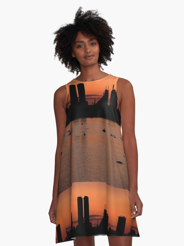 September sea. VIII A-Line Dress Front