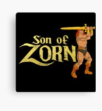 Son of Zorn Fan Art Print Design Distressed on Black Canvas Print