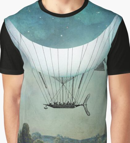 The Moon Ship Graphic T-Shirt