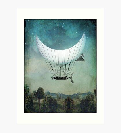 The Moon Ship Art Print