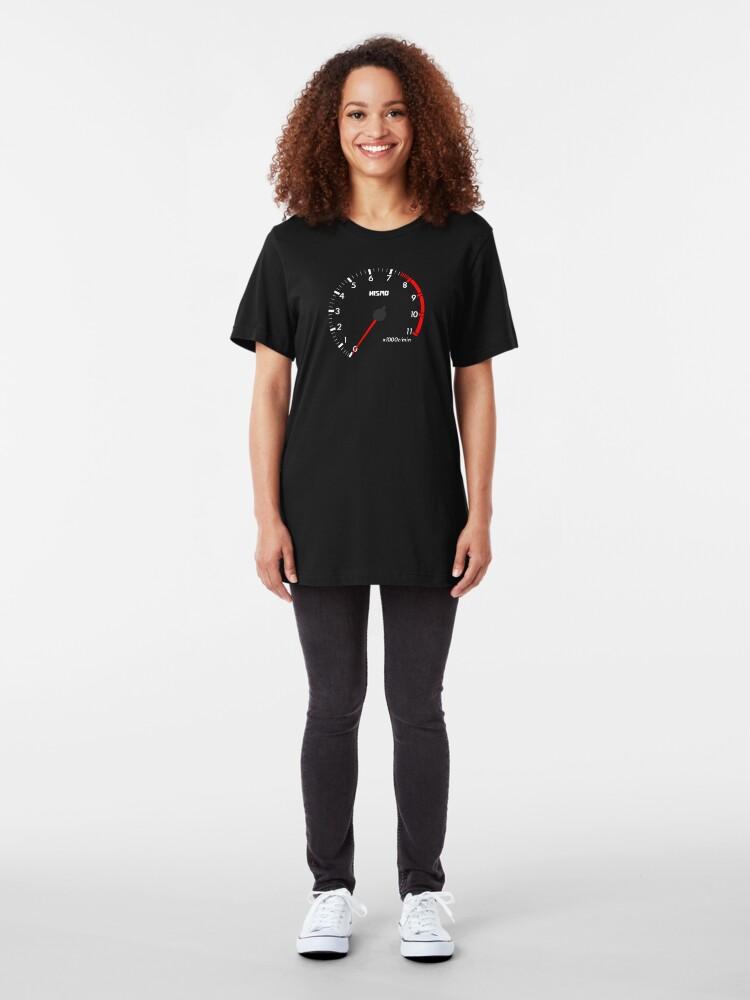 Alternative Ansicht von NISSAN スカイライン (NISSAN Skyline) R32 NISMO rev counter [black version] Slim Fit T-Shirt