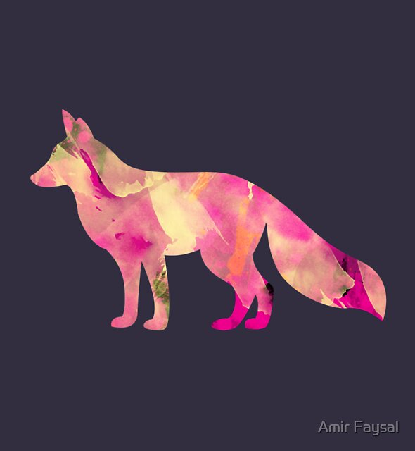 Abstract Fox by Amir Faysal