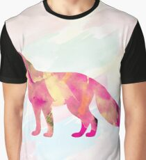 Abstract Fox Graphic T-Shirt