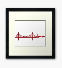 bay area is home Framed Print