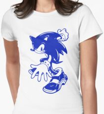 Sonic the Hedgehog [Blue] Womens Fitted T-Shirt