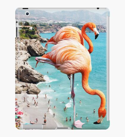 Flamingos on the Beach #redbubble #decor iPad Case/Skin