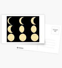 Mond Phase Postkarten
