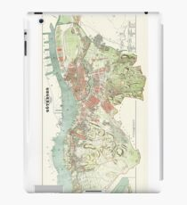 Map of Gothenburg - 1888 iPad Case/Skin