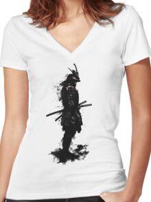 Armored Samurai Women's Fitted V-Neck T-Shirt
