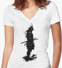 Armored Samurai Women's Fitted V-Neck T-Shirt