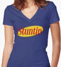 Stuntin' x Seinfeld Women's Fitted V-Neck T-Shirt