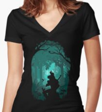 Zelda - Ocarina in the Woods Women's Fitted V-Neck T-Shirt