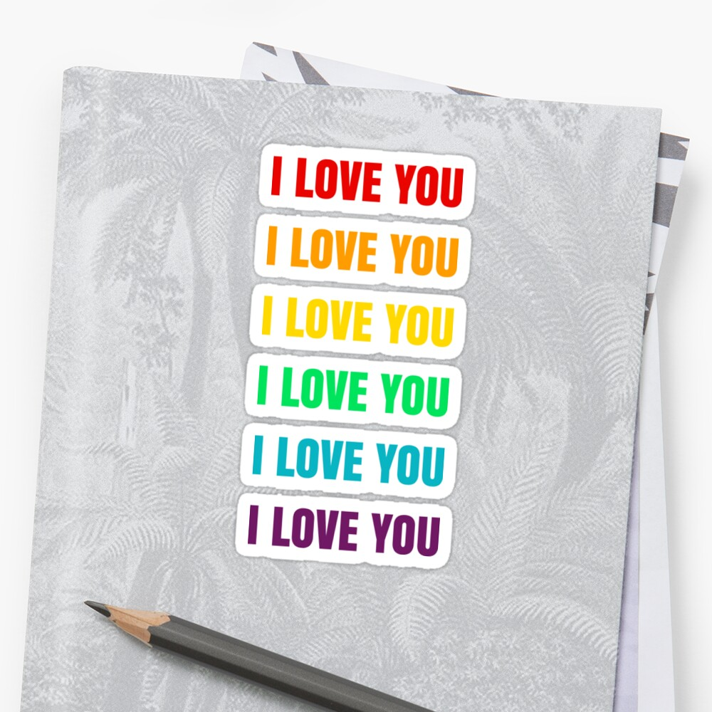 I LOVE YOU [RAINBOW] Sticker