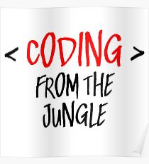 Coding from the jungle Poster