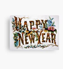 Happy new year - 1876 Canvas Print