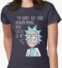 rick opinion Womens Fitted T-Shirt