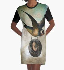 Precious flight Graphic T-Shirt Dress