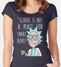 Rick school Women's Fitted Scoop T-Shirt