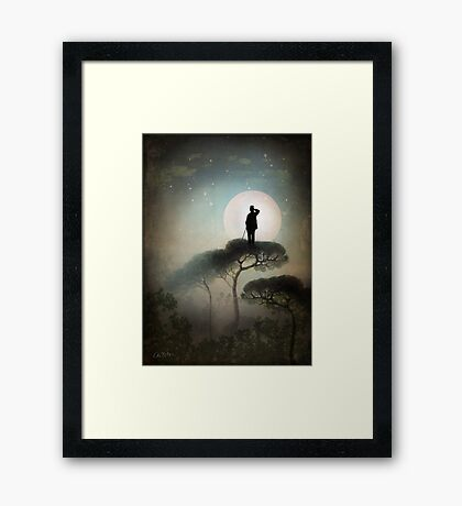 The Man in the Moon Framed Print