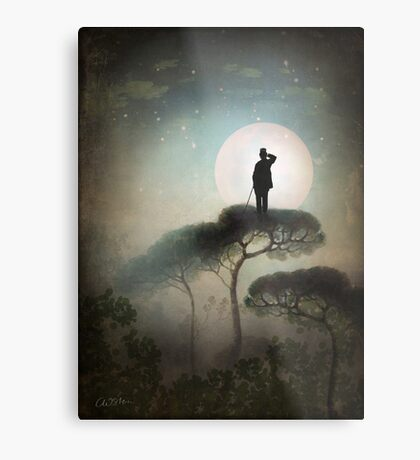 The Man in the Moon Metal Print