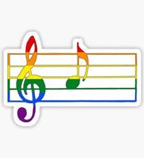 Rainbow Musical Notes Sticker
