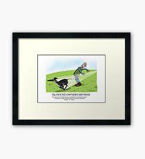 Hound Owner's Hip Sway Framed Print