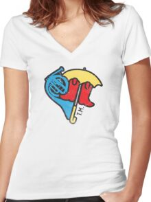 Hey Beautiful Women's Fitted V-Neck T-Shirt