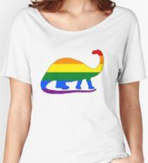 Rainbow Brontosaurus Women's Relaxed Fit T-Shirt