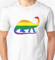 Rainbow Brontosaurus Unisex T-Shirt
