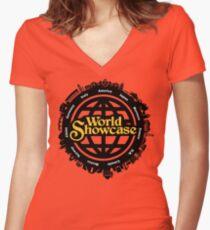 EPCOT World Showcase Women's Fitted V-Neck T-Shirt