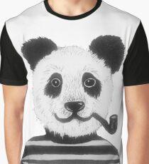 Cool Hipster Panda Bear Smoking Pipe  Graphic T-Shirt