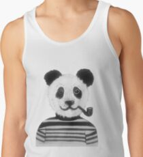 Cool Hipster Panda Bear Smoking Pipe  Tank Top