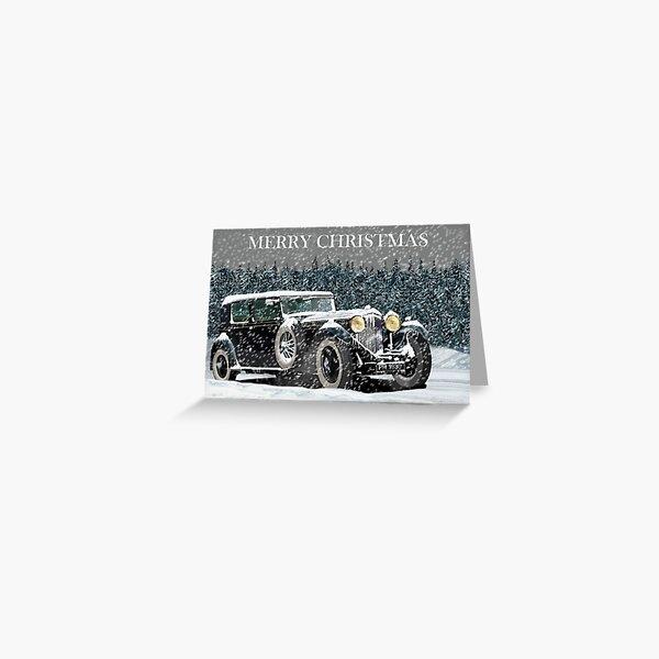 Merry Christmas Snow Bentley. Greeting Card