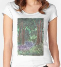 Deep forest Women's Fitted Scoop T-Shirt