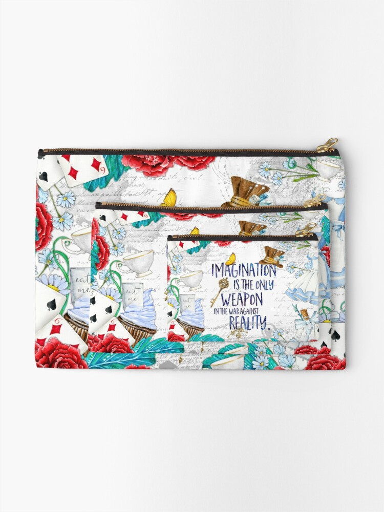 Alternate view of Alice in Wonderland - Imagination Zipper Pouch