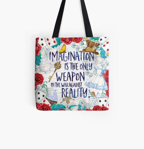 Alice in Wonderland - Imagination All Over Print Tote Bag