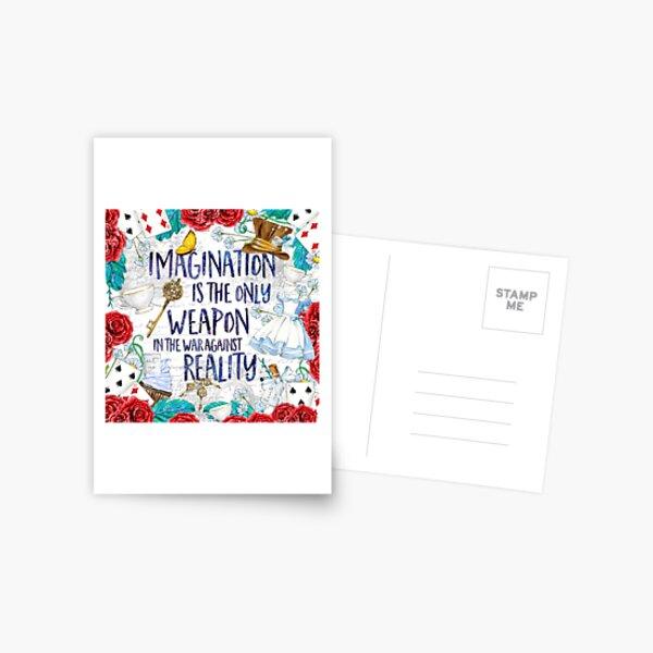 Alice au pays des merveilles - Imagination Carte postale