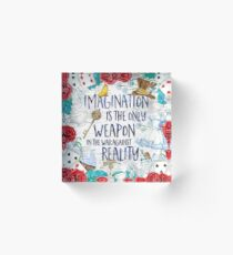 Alice in Wonderland - Imagination Acrylic Block