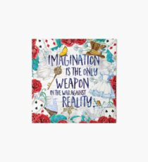Alice in Wonderland - Imagination Art Board Print