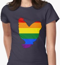 Rainbow Chicken Womens Fitted T-Shirt