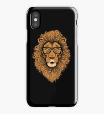 Cool Hipster Lion with Glasses  iPhone Case/Skin