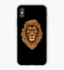 Cool Hipster Lion with Glasses hipster lion - lion graphic  iPhone Case