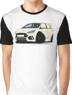 Ford Focus (Mk3) RS White Graphic T-Shirt