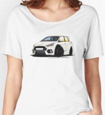 Ford Focus (Mk3) RS White Women's Relaxed Fit T-Shirt