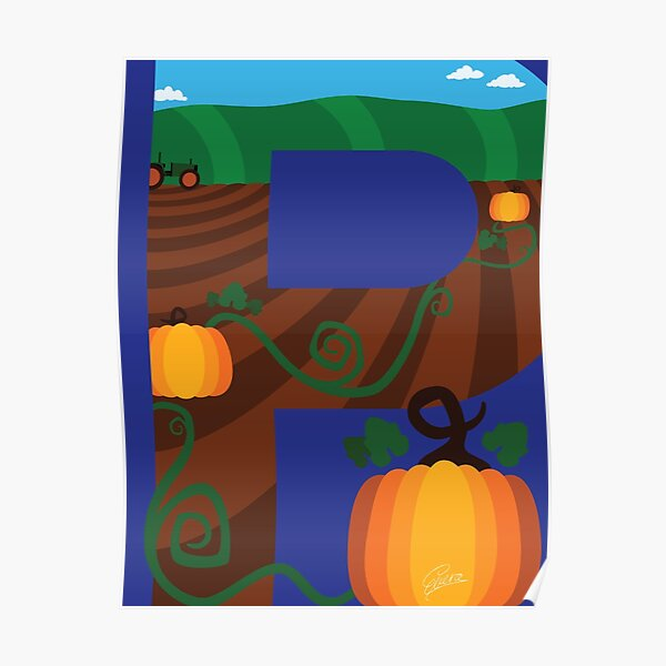 P is for Pumpkin Poster